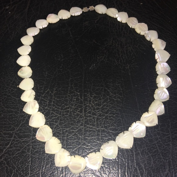 Vintage Jewelry - Vintage 70's Carved Mother-of-pearl Fish Choker
